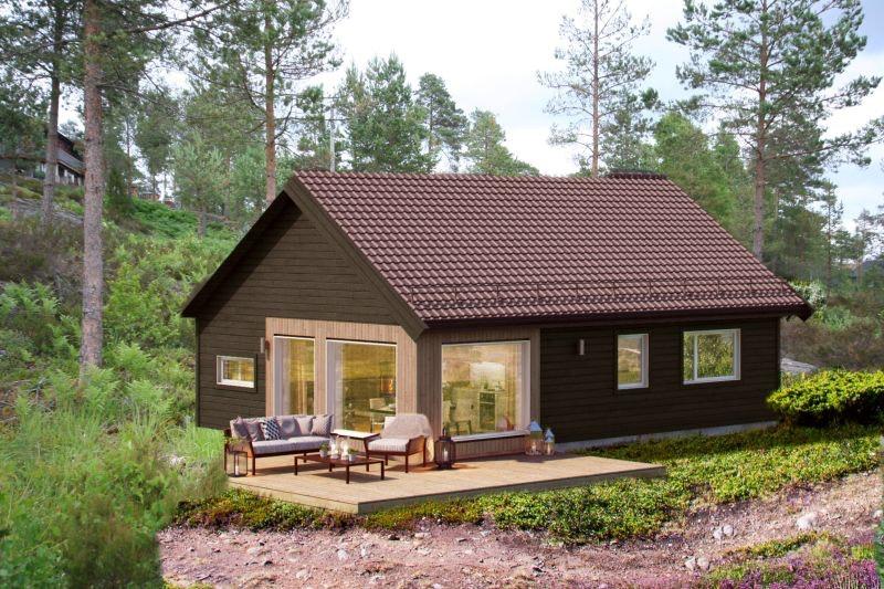 Sporty familie hytte. Utsikt over innsjø. Flotte turområder og sandstrand/svaberg