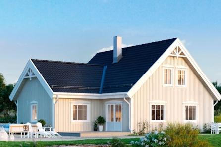 Prosjektert enebolig på sørvendt tomt i etablert boligområde - Livsløpsstandard, 3 sov, 2 bad