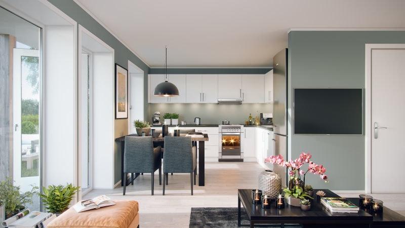 Sørumsvingen // Nye, moderne 4-roms leiligheter med terrasse og garasje. Gangavstand til Sørumsand sentrum og togstasjon