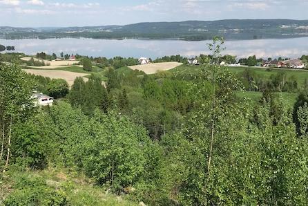 Tomt på Ulleråsen med flott beliggenhet og utsikt over Øyeren / Nærhet til Østmarka