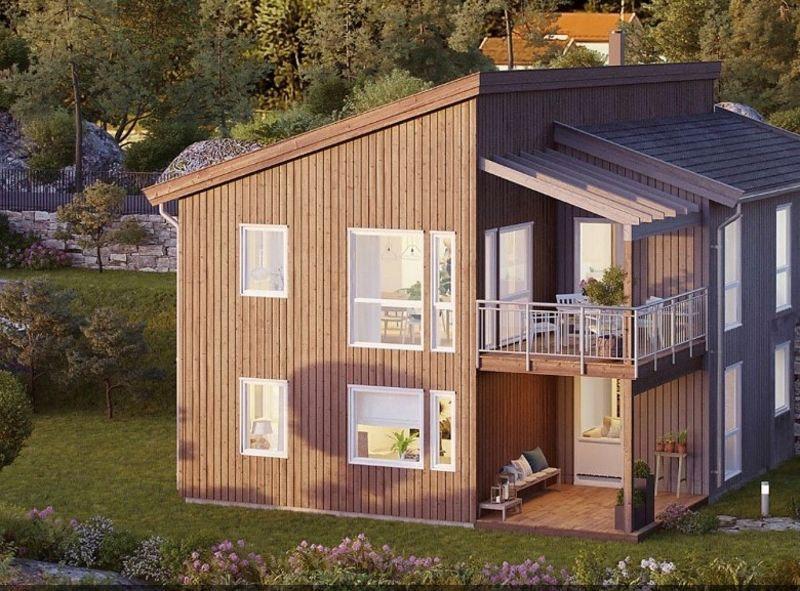 Moderne enebolig med flott beliggenhet og fantastisk utsikt på Ulleråsen