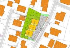 Situasjonsplan for boligene i Yttervegen.