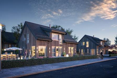 Jessheim/Sand: Bygg drømmehuset Novara på en flott tomt|nært skole, barnehage, nærbutikk og flott turområde hele året