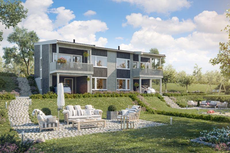 NORDKISA/STUBBERUD Moderne tomannsbolig med 4.sov, balkong og parkering under tak.