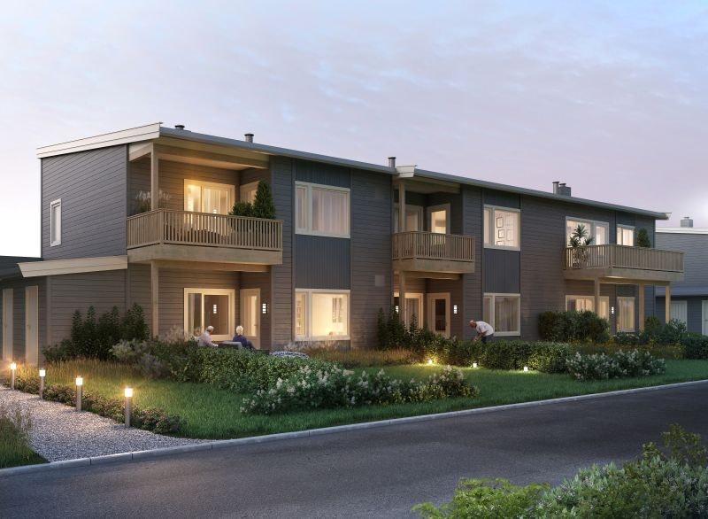 Kisamoen- Nordkisa  //  1igjen! Nye, moderne 2-roms leiligheter på 59 kvm. med terrasser / balkonger og carporter.