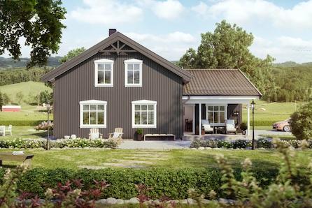 Ullensaker/Nordkisa: Prosjektert enebolig, romslig løsning med 5 soverom, 2 bad og marka i umiddelbar nærhet