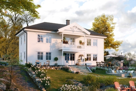 Ullensaker/Nordkisa- Prosjektert enebolig-to flislagte bad- etablert boligområde rett ved marka