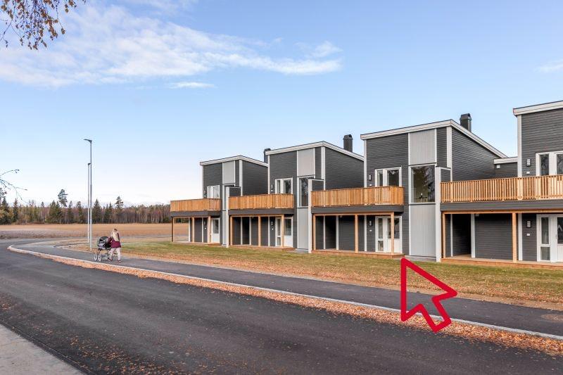 Kisamoen - Nordkisa // Innflytningsklar, ny enebolig i kjede med 27 kvm. takterrasse og 3 sov. Nær skole, butikk og buss