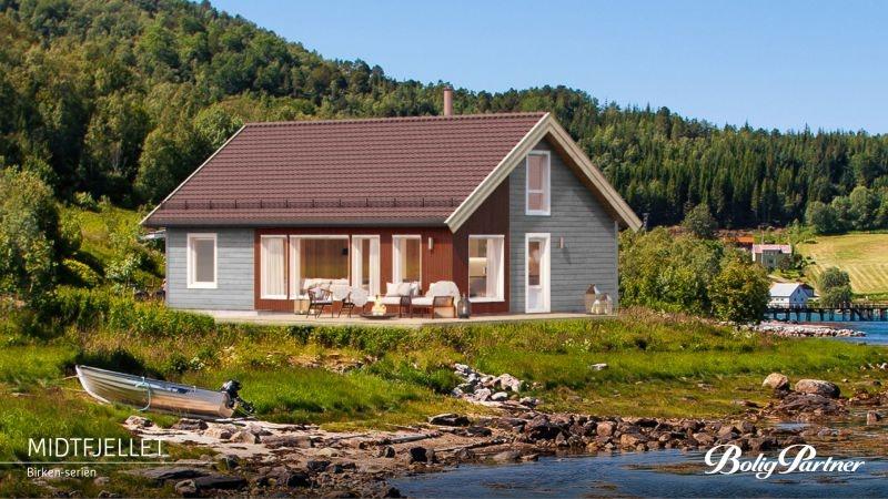 Hurdalslia-Birkenhytta Midtfjellet - med gulvareal på 108m2, romslig hems (39m2) og 3 sov.
