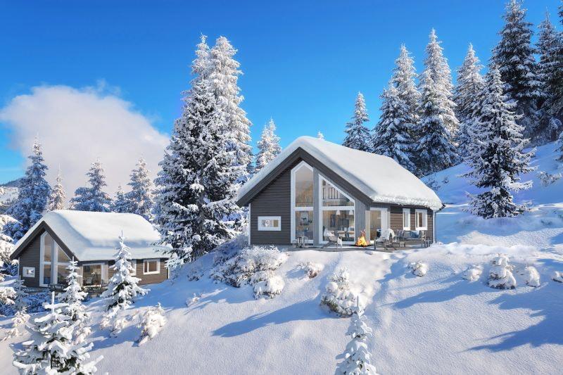 Moderne hytte for hele familien i Hurdalslia hyttegrend