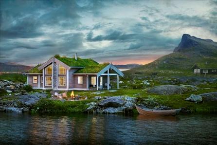Midthø, en flott hytte for hele familien i Hurdalslia hyttegrend