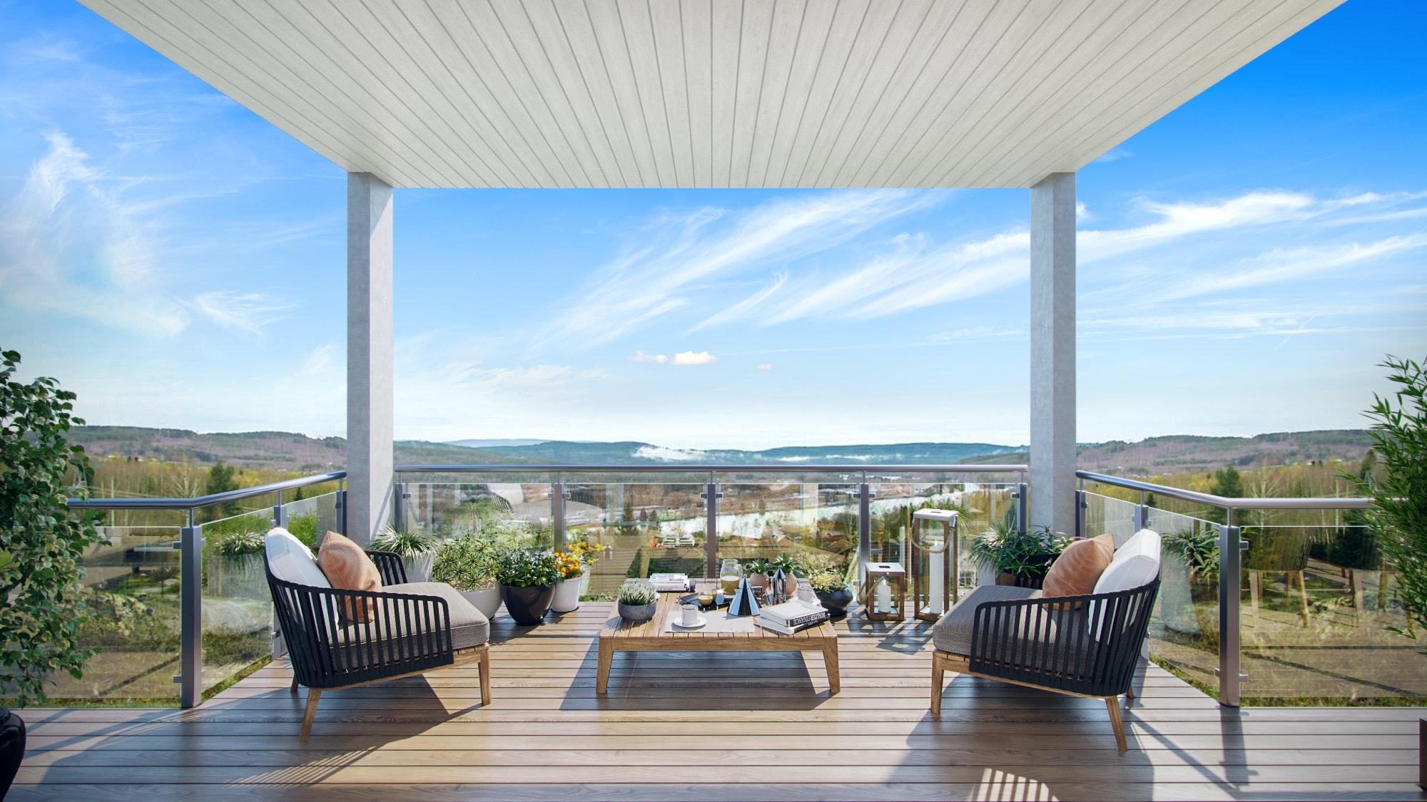 Ny funkis/moderne enebolig med panoramautsikt nære marka i Bogeråsen-Kongsvinger