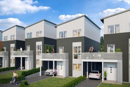 Ny enebolig over tre etasjer med utleieenhet, ca 2 km fra Hamar sentrum.