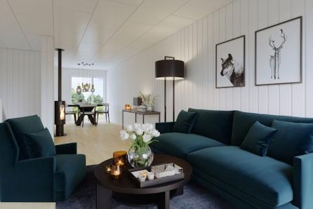 Visning 15.11 kl 14-15: Ny bolig med stor terrasse og mulighet for 4 soverom eller egen TV stue.