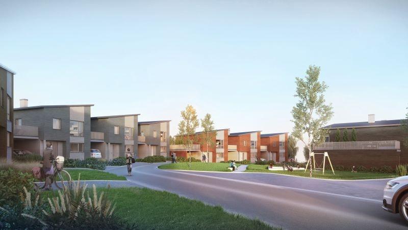 9 AV 10 SOLGT! Ny enebolig med stor terrasse, 3 sov og carport, beliggende nær Hamar sentrum.