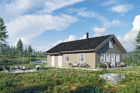 TOMTEVISNING ONSD. 16.09 KL 17-18, Romslig hytte inkl selveietomt på Gåsbu med flott turterreng