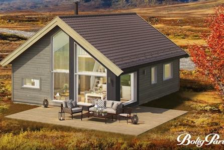 VISNING LØR. 06.06 KL 16-17-KAMPANJE! Moderne familiehytte med 84 m2 gulvareal med selveietomt på Gåsbu hyttegrend.
