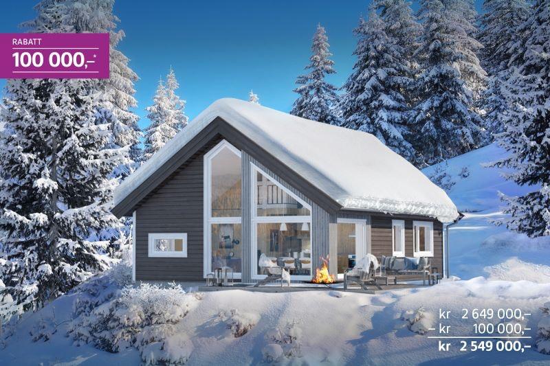 Nå starter salget på byggetrinn 2 - lanseringsrabatt kr 100 000,- - Sportshytte for hele familien på Gåsbu hyttegrend.