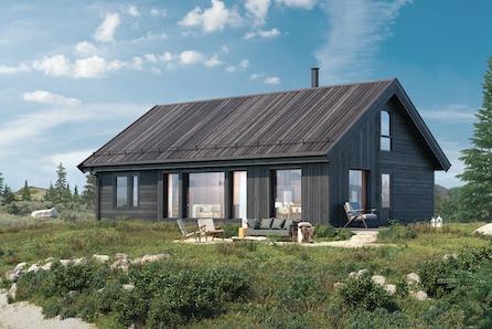Innholdsrik familiehytte med 119 kvm gulvareal inkludert selveiertomt på Gåsbu hyttegrend