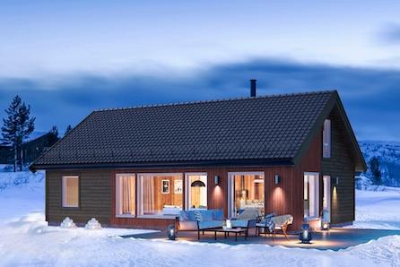 TOMTEVISNING SØND. 11.04 KL 14-15. Innholdsrik familiehytte med 119 kvm gulvareal inkl selveiertomt på Gåsbu.