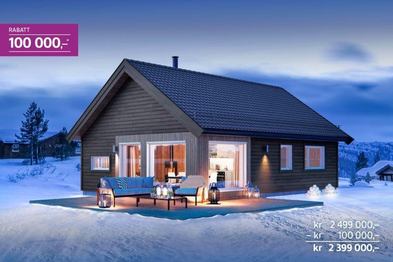 Nå starter salget på byggetrinn 2 - lanseringsrabatt kr 100 000,- - prisgunstig hytte for hele familien på Gåsbu