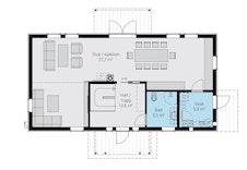Forslag til bolig som kan bygges.