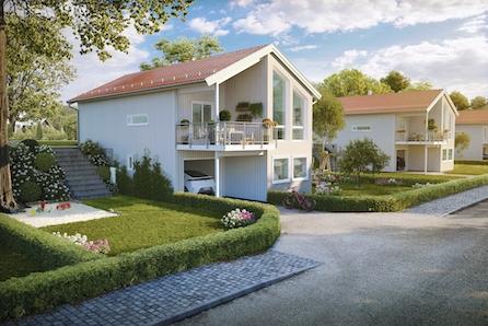 BRUMUNDDAL - Nye moderne eneboliger med egen hage og flott utsikt! Solrikt og barnevennlig.