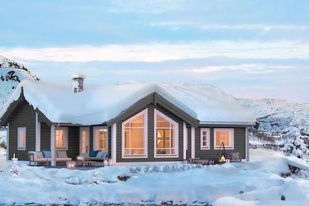 KAMPANJE*-Budor Felt P-Romselig familiehytte med 3 soverom og hems-skiløyper i umiddelbar nærhet og kort vei til alpint