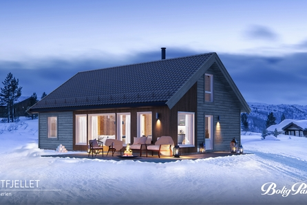 Romslig hytte, levert innflytningsklar på Mjøsli.