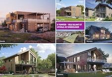8 eneboliger skal bygges i Nordahlvegen 36. På hver tomt har vi plukket ut ulike hus som kunden selv kan velge mellom.