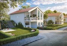 Berga er et eksempel på bolig som kan passe inn på tomta. Illustrasjonsfoto.
