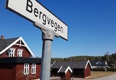 Vei inn til Bergvegen fra RV 175.