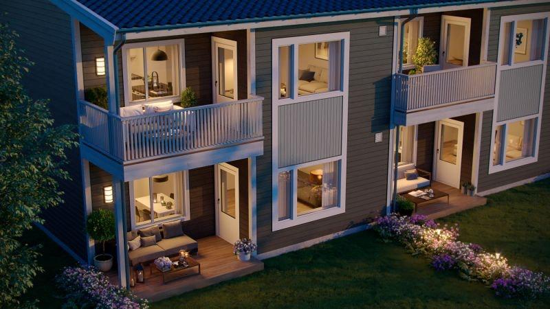 Nye sentrale 3-roms leiligheter i 6-mannsbolig, Skotterud sentrum. Kampanje frem til 15.05.2019. Få med hvitevarer!