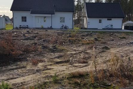 Byggeklar enebolig tomt - Barnevennlig - Rolig - Naturen som hage