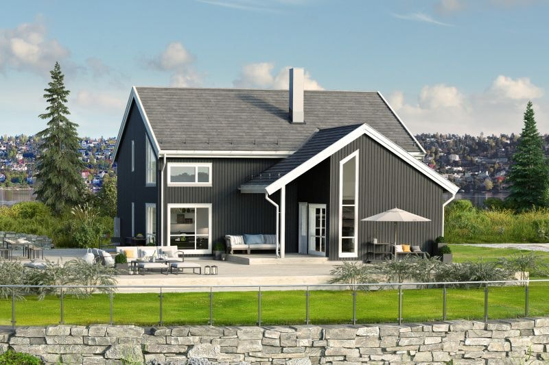 Moderne enebolig med vannbåren varme. Bo barnevennlig i Elverum med skiløyper og sykkelstier rett utenfor døren.