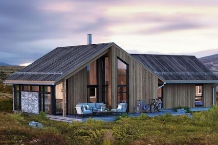 Magna Ferentis - moderne , innholdsrik familiehytte på flott tomt - høyt opp i Fageråsen