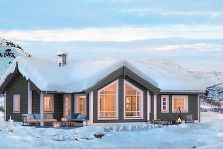 KAMPANJE* -Flott familiehytte med et gulvareal på 106 m2 og flott beliggenhet høyt i Fageråsen-rett ved langrennsløypene