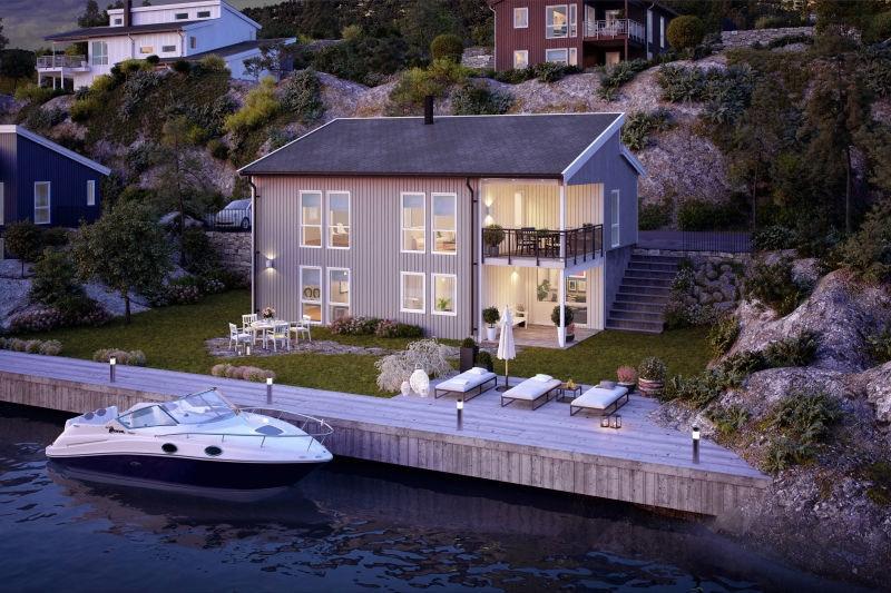 Det familien ønsker seg. Moderne bolig med fire soverom, tre bad, en romslig kjøkken- og stueløsning og tv-stue.