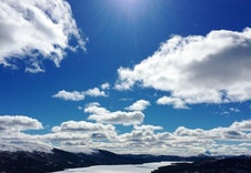 Utsikt over Savalsjøen.