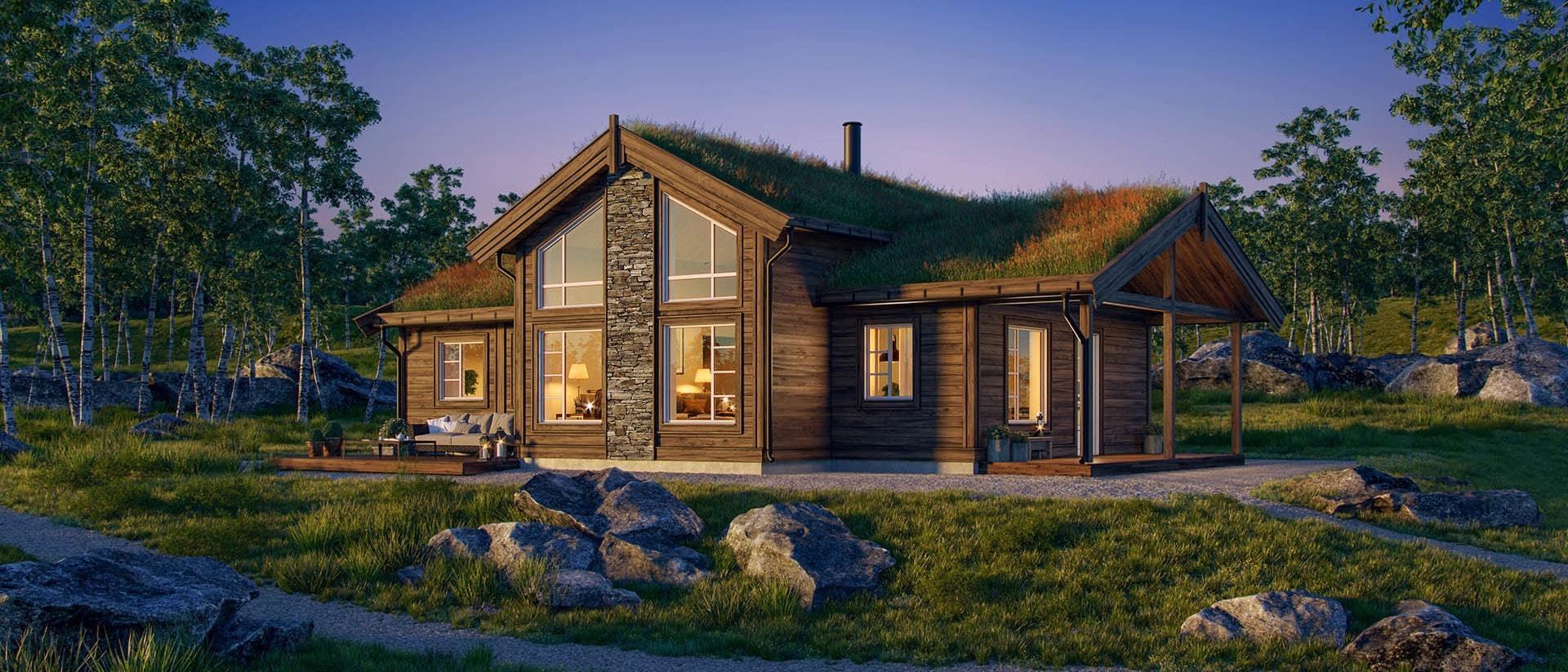 Nydelig familiehytte i Rondeblikk - med Rondane inn i stua.