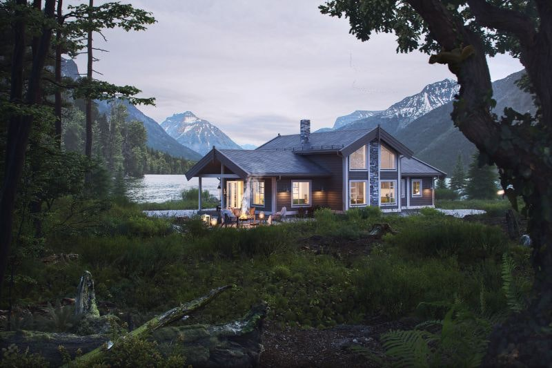 Majestetiske SLETTHØ - nøkkelferdig hytte på 126 m² unikt plassert, høyt til fjells midt mellom Røros, Forollhogna og Hummelfjell. Fantastiske solforhold og skiløypa rett utenfor døra.