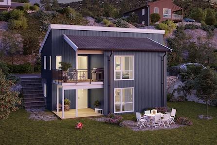 Moderne enebolig i populært og barnevennlig område. 4 sov, 2 bad, TV-stue og vaskerom.