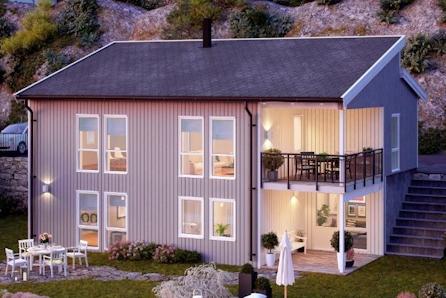 Moderne bolig i barnevennlig boligområde med kort vei til natur, skole og barnehage. Mulighet for hybel.