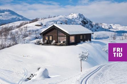 Romslig familiehytte på Nordseter, Lillehammerfjellet. Ski in/out langrenn. Tomt, grav og betong inkl.