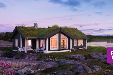 Nøkkelferdig familiehytte i Lillehammerfjellet. Stor, solrik selveiertomt. Skiløype gjennom feltet!