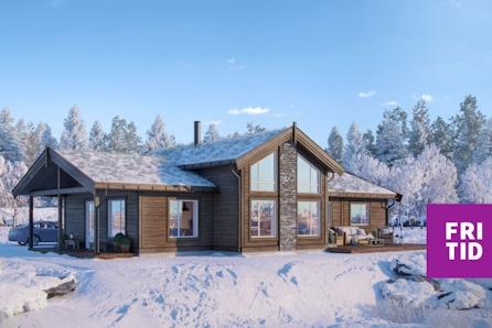 KAMPANJE* Nøkkelferdig hytte på stor, solrik tomt på Nordseter i Lillehammerfjellet. Ski in/out! Tomt, grav,betong inkl.