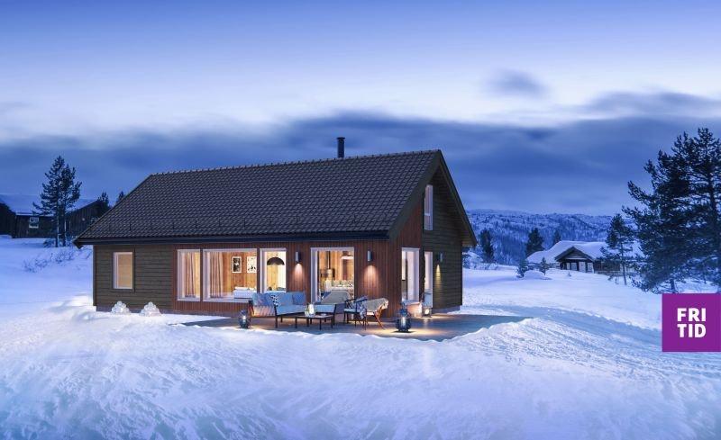 KAMPANJE* Birkenhytta Storåsen rommer 4 sov og hems på 43m2. Ski in/out. Nøkkelferdig på stor, solrik tomt på Nordseter