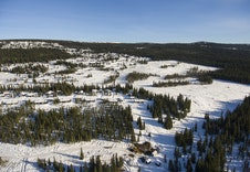 Dronefoto over Nordseter Fjellgrend (Mono Media)