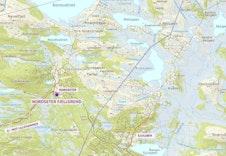 Oversiktskart Nordseter - Sjusjøen