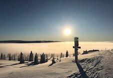 Fra skiløypene innover fjellet